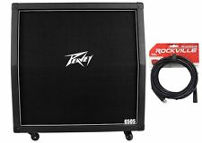 Peavey 6505 412 Slant 300w Closed Back 4x12 Guitar Amplifier Cabinet + Cable