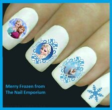 Nail Art Water Transfers Decals Stickers Frozen Heart Nails Party Favours #2050