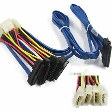 SFF-8484 To 4 SFF8482 29Pin 32Pin-4 SAS Data Cable For HP P400 Blue 1M