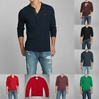 New Abercrombie & Fitch by Hollister Men HENLEY shirt Size S M L XL XXL NWT
