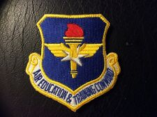 """U.S.A.F. AIR EDUCATION & TRAINING COMMAND PATCH, 3"""" SIZE, VELCRO BACK"""