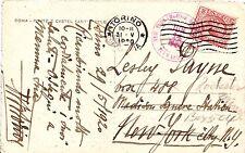 Italy Roma postcard 1920 Torino Cover NYC Auxiliary forwarded Rochester NY USA