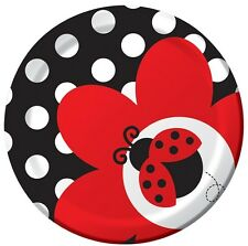 Ladybug Fancy Dessert Plates (8) - Themed Birthday Party Supplies