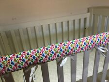 2 x Reversible Baby Cot Crib Teething Rail Cover Protector ~ cute elephants