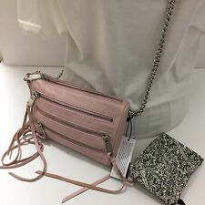 REBECCA MINKOFF Pink Blush Mini 5 Zip Crossbody Bag Purse FREE SHIPPING