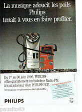 PUBLICITE ADVERTISING 1016  1990  Philips  rasoir  éléctrique Philishave