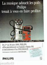 PUBLICITE ADVERTISING 1016  1990  Philips  rasoir  éléctrique Philishave