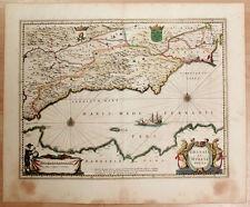 Carte c1650 JANSSONIUS in-folio map couleurs GRENADE MURCIE Malaga Almeria 3