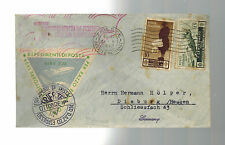 1934 Trieste Italy Rocket Mail Cover to Dieburg Germany