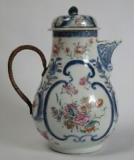 An 18th century 'Amsterdams Bont' Chinese famille-rose ewer with cover. c1770