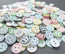 100pcs monkey Round Resin Buttons Fit Sewing crafts Scrapbooking 13mm