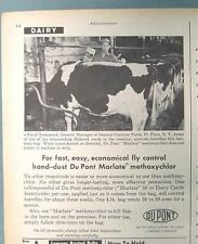 Orig 1958 Farm Animal Photo Ad Features Baird Hammond of Ft Plain New York