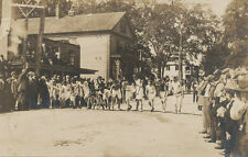 Foot Race Starting Line & Gun  RPPC  ca. 1908   Runners  Athletes