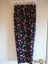 Carol Anderson Capris Cropped Size PL Rayon Crepe Black Print Inseam 20 Petites
