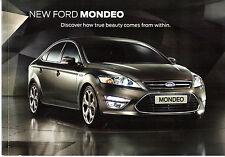 Ford Mondeo 2010-11 UK Market Smaller Format Launch Sales Brochure