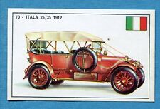 STORIA DELL'AUTOMOBILE Panini Figurina-Sticker n. 70 - ITALA 25/35 1912 -Rec