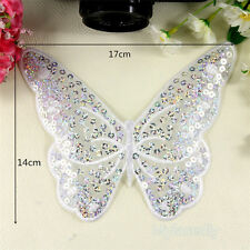 Butterfly Sequins Embroidery Sew on Iron On Patch Badge Fabric Applique Transfer