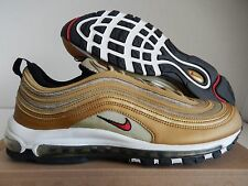 "NIKE AIR MAX 97 METALLIC GOLD-RED-BLACK SZ 12 ""OLYMPIC RARE!!! [312641-700]"