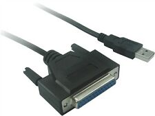 USB 2.0 A Male  to DB25 female 6 Ft long USB 2.0 to parallel printer cable 6 Ft