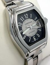 CARTIER ROADSTER LARGE SIZE STAINLESS STEEL BLACK & SILVER DIAL AUTOMATIC 2510