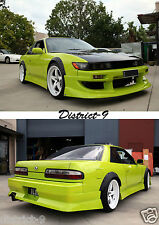 BOLT ON FENDER WHEEL GUARD FLARES FOR NISSAN S13/180SX -DURABLE FLEXI PLASTIC SR