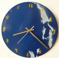 RAY CHARLES INSPIRED WALL CLOCK,RADIO HEAD,GONG,LED ZEPPELIN,SPRAY PAINT ART