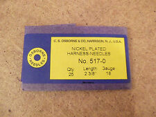 C.S. Osborne #517 Harness Needles Size 0 (Pack of 25)