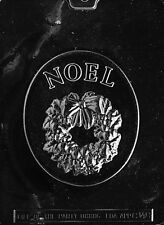 NOEL WITH WREATH PLAQUE mold Chocolate Candy plaster candy molds cake topper