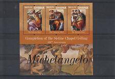 Ghana 2012 MNH Michelangelo 500th Anniv Sistine Chapel Ceiling 3v M/S