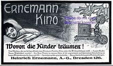 Ernemann Kino Reklame 1911 Kamera Weihnachten Traum Kind schlafen träumen +