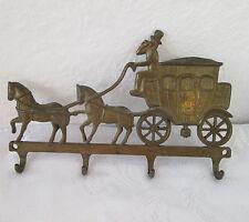 Antique Vintage horse carriage brass / bronze  hanger for  keys
