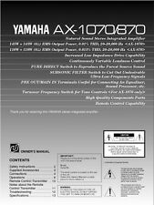 Yamaha AX-1070 Amplifier Owners Manual