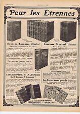 Publicité Advertising 026 1917 Librairie Larousse encyclopédie illustré