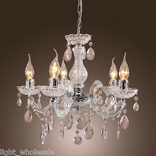 Vintage Europe Crystal Chandelier Lamp Ceiling Light Pendant Lighting Fixture YY
