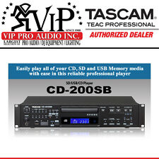 Tascam CD-200SB Professional CD player w/ SD/SDHC & USB Memory Device playback