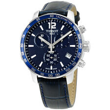 Tissot Men's T0954171604700 Quickster Chronograph Analog Swiss Quartz Blue Watch