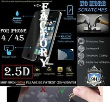2.5D 9H Tempered Glass Screen Protector iphone 4 4S 4G Vitre trempé protecteur