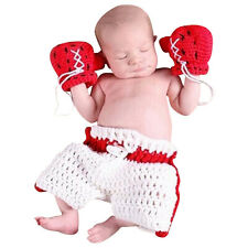 Baby Boys Boxing Gloves Knitted Crochet Costume Photo Photography Prop Outfit