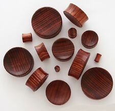 "Pair 1/2"" 12mm Red Tiger Wood Organic Solid Concave Ear Saddle Plugs Gauges 805"