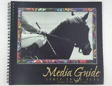 1999 2000 Media Guide Santa Anita Park Thoroughbred Horse Racing Spiral Bound