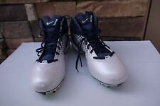 NIKE AIR ZOOM ALPHA TALON MEN'S TD FOOTBALL CLEATS US 14 WHITE / NAVY