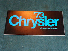 1973 CHRYSLER OWNER'S MANUAL NICE ORIGINAL GUIDE BOOK