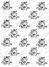 20 TIGER WATER SLIDE NAIL ART DECALS-10  DESIGNS  BLACK TIGER NAIL DECALS