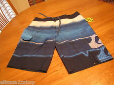 Men's Quiksilver surf board shorts 32 bravo 21 4 way stretch skate blue navy NEW