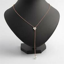 Kate Spade New York Pearl & Mother of Pearl Lariat Necklace Rose Gold