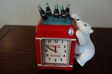 VINTAGE COCA-COLA POLAR BEAR ALARM CLOCK, BANK