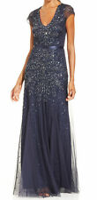 Adrianna Papell New Cap-Sleeve Embellished Gown Size 8 MSRP $299 #HN 255 (8)