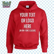 Custom Personalised Men's Printed HOODIE Name Funny Work Stag Do-Your text/logo5