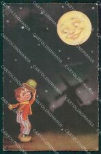 Colombo Art Deco Dutch Boy Paper Moon CREASES serie 1903 postcard QT6531