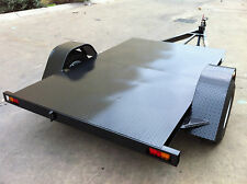 FLAT BED MOWER TRAILER  8x6ft 1450KG LED'S INC ATM WITH BRAKES ATV QUADS BIKES